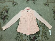 Elle™ Flower Design Blouse Shirt Top Dusty Pink Women's Clothes Size M NEW