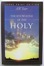 THE KNOWLEDGE OF THE HOLY by A W TOZER NON FICTION BOOK Large Print Edition