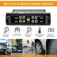 Wireless Solar Auto Reifendruckkontrollsystem TPMS + 4 Externe Sensoren A1H E0D1