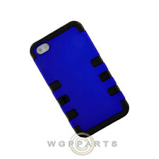 Apple iPhone 4/i4S TUFF Hybrid Case Blue Case Cover Shell Guard