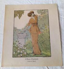 André Marty - l'heure charmante Parfum de Rigaud vers 1914 gravure originale