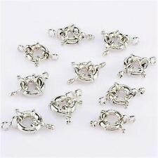 13MM Silver Plated wheel Circle Clasp Finding Necklace 10PCS##HL005