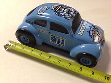 NEW 911 POLICMAN COP VW BEETLE BUG RACE CAR NASCAR COIN BANK