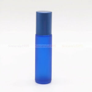 5ml 10ml Frosted Glass Roll on Bottle Roller Ball for Essential Oil Perfume NEW