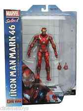 Marvel Select IRON MAN Mark 46 Captain América Civil War película Action Figure