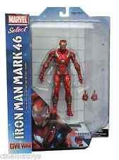 Marvel Select IRON MAN Mark 46 Captain America Civil War film Action Figure 2016