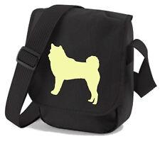 More details for akita bag dog silhouette akita dog walkers bags dog birthday gift xmas gift