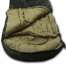 Wolftraders LoneWolf +0℉ Oversized Premium Comfort Sleeping Bag, Black/Tan