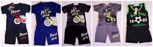 Boys Kids Summer Short Sleeve Summer T-shirt Top and Shorts Set 2-10years