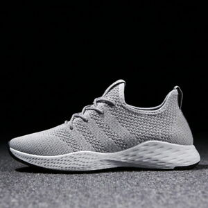 Mens Athletic Sneakers Walking Fitness Sport Running Casual Shoes Gray US 8