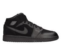 Jordan Mid 1 Black/Dark Grey-Black (GS) Grade School 554725 050 Size 6.5Y 7Y