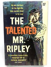 The Talented Mr. Ripley Patricia Highsmith Dell D282 Psychological Thriller 1St
