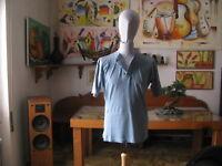 Vintage - T.Shirt / Jersey Hexacto Active, Coul. Céleste Taille L Italie 1987