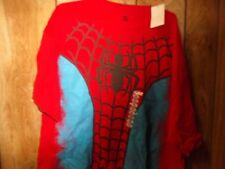 NWT Mens Spiderman Costume Look Tshirt-Size XL -100% Cotton-Marvel Licensed