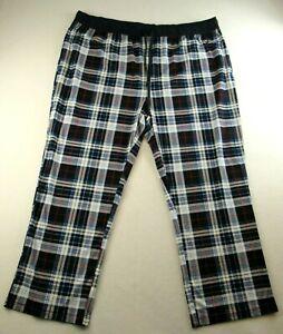 Nautica Men's Sleepwear Lounge Pants Size XXL Blue & White Drawstring Polyester