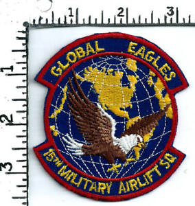 original USAF patch (1980's) 15th Military Airlift Squadron - C-141C Starlifter