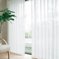 Blanc Tulle Floral Voile Porte fenêtre rideau Panneau Drapé Écharpe Sheer AT