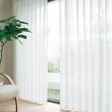 Blanc Tulle Floral Voile Porte fenêtre rideau Panneau 3·apé Écharpe Sheer