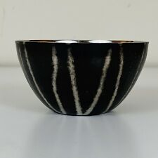 """Michael Aram Black Etched Stainless Nut Bowl 3.75"""" Africa Collection"""