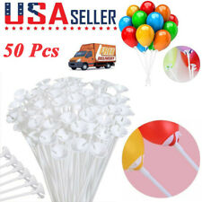 US 50Pcs 32cm Plastic Balloon Sticks Holders and Cups for Birthday Party Decor