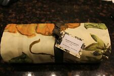 Pottery Barn Pumpkin Patch Painted Tablecloth 70 x 108 NEW Thanksgiving