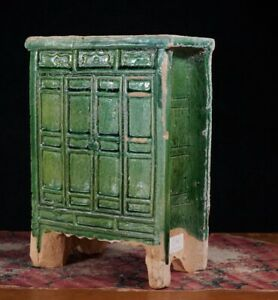 Chinese Ming Dynasty model cabinet, green glaze, 16th century AD