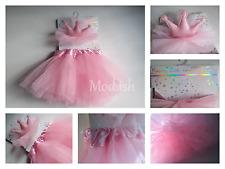 New ABG Baby Girl 2 Piece Rising Star Pink Dress Up Headband and Tutu Set 0-12M