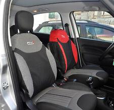 Fodere su Misura Coprisedili Fiat 500L Set Completo Foderine Grigio/Nero