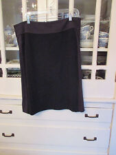 EILEEN FISHER dark gray knit back zip skirt -size LARGE