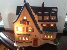 "Department 56 Alpine Village Series ""Apotek & Tabak"" Lighted House #6540-4 Used!"