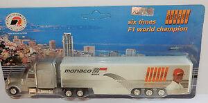 GRELL HO 1/87 CAMION TRUCK TRAILER PETERBILT MONACO F1 2004 M. SCHUMACHER
