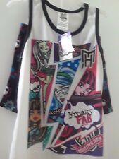 NEW W/ TAGS  GIRLS MONSTER HIGH  2-PIECE P.J. SET  SIZE SM.4-5  100% POLYESTER F