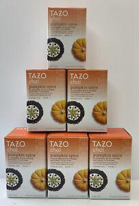 (Lot of 6) Tazo Pumpkin Spice Chai Black Tea 120 Filter Bags BB 5/21