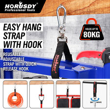 2 x Carabiner Clip Snap Hook Lock & Easy Hand Straps Quick Release 80KG Capacity