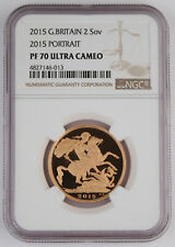 Great Britain UK 2015 Double 2 Sovereign Gold Proof Coin NGC PF70 UC Scarce Date