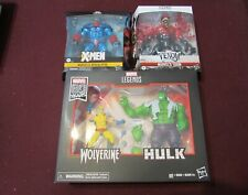 Marvel Legends Lot of 4 (Wolverine Vs Hulk 2 pack, Toxin & Apocalypse) (NEW)