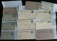 Canada Bundle of Queen Victoria Postal Stationery Items to 1902 (12 items) Mint