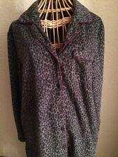 10756c980d Gilligan   O Malley Dark Gray Animal Print Long Sleeve Fleece Pajamas ...