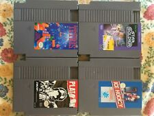 Lot of 4 classic Nintendo NES games. STAR SOLDIER, ICE HOCKEY, TETRIS, PLATOON.