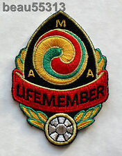 """"""" OLD STYLE"""" AMA AMERICAN MOTORCYCLE ASSOCIATION """"LIFE MEMBER"""" VEST JACKET PATCH"""