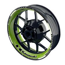 Llantas pegatinas llantas de motocicletas borde pegatinas wheelsticker Kawasaki saw verde