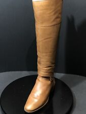 Franco Sarto Women's Roxanna Knee High Leather Whiskey Lea Boots Size US 8.5 W