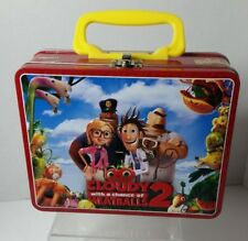 CLOUDY WITH A CHANCE OF MEATBALLS 2 MINI LUNCHBOX METAL TIN