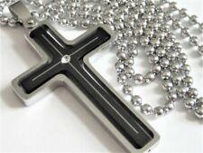 Schwarze Modeschmuck-Halsketten & -Anhänger im Collier-Stil mit Zirkonia