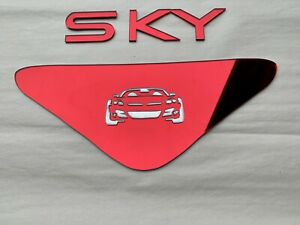 Saturn Sky Hood Liner Triangle & Letter Insert Combo Kit. Pick Color And Graphic