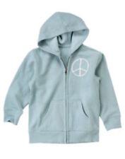 Crazy 8 Blue Peace Skull Crossbones Zip-up Hoodie Jacket Boys size XS 4 NEW NWT