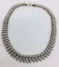 Vintage Sterling Silver Ornate Tribal Swirl Designer Necklace