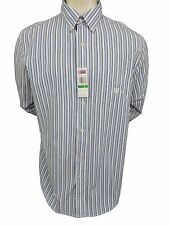 Chaps Shirt Size L Button Front Long Sleeve Cotton White Striped New Mens