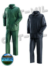 Completo (giacca e copripantalone) impermeabile pioggia caccia pesca in Nylon