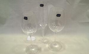 Servizio Bicchieri Cristallo ottico di Bohemia x 12 persone 36 pz